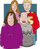 Familien-Gruppe Stockfotografie