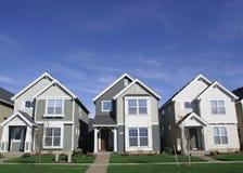 Familien-Häuser Stockfoto