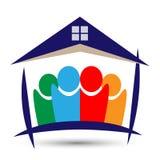 Familien-Haus, Hauptlogo auf weißem Hintergrund Lizenzfreie Stockfotos