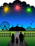 Familien-Karnevals-Feuerwerke stock abbildung