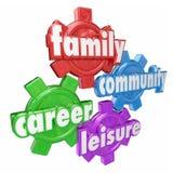 Familien-Karriere-Gemeinschaftsfreizeit fasst Ausgaben-balancierendes Zeit-GE ab Stockfoto