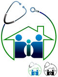 Familien-Kliniklogo Lizenzfreies Stockbild