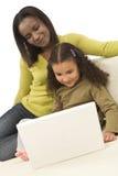 Familien-Lernen Lizenzfreies Stockfoto