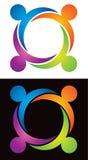 Familien-Logo Stockfoto