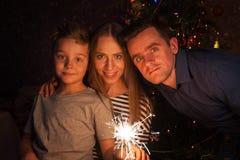 Familien-neues Jahr Lizenzfreie Stockbilder
