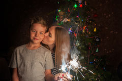 Familien-neues Jahr Lizenzfreie Stockfotografie