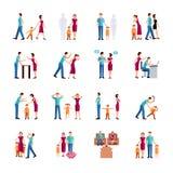 Familien-Problem-Ikonen Stockfotos