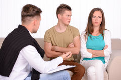 Familien-Psychologe stockbilder
