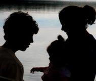 Familien-Schattenbild Lizenzfreies Stockbild