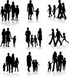 Familien-Schattenbilder lizenzfreies stockbild