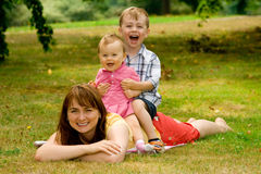 Familien-Spaß Lizenzfreie Stockfotos