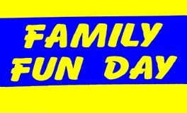 Familien-Spaß-Tageszeichen Stockfotos