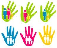 Familien-Stützunterstützungs-Klipp-Kunst lizenzfreie abbildung