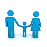 Familien-Symbol Stockfotografie