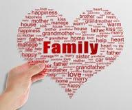 Familien-Tag-Cloud stockbild