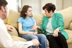 Familien-Therapie Stockfotografie
