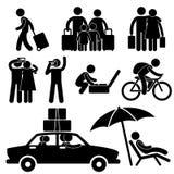 Familien-touristische Reisen-Ferien-Reise Lizenzfreie Stockfotos
