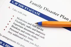 Familien-Unfall-Plan stockfotos