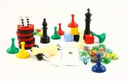 Familien-Unterhaltungs-Spiel-Nacht Lizenzfreies Stockfoto