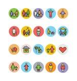 Familien-Vektor-Ikonen 2 Stockbilder
