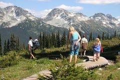 Familien-Wanderung Stockfoto