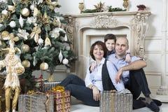 Familien-Weihnachten lizenzfreie stockfotos