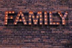 Familien-Zeichen Stockbilder