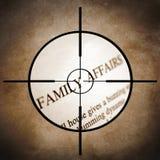 Familienangelegenheiten Stockfoto