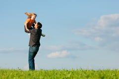 Familienangelegenheiten - Vater und Tochter Lizenzfreie Stockbilder