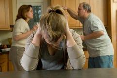 Familienargument Lizenzfreies Stockbild
