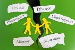 Familienauseinanderbrechen Lizenzfreie Stockfotos