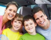 Familienauto Stockfotografie