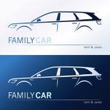 Familienautoschattenbilder vektor abbildung