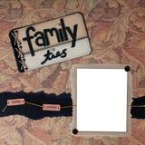 Familienband-themenorientierte Digital-Einklebebuch-Seite Lizenzfreie Stockfotos