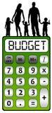 Familienbudget Stockfoto