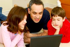 Familiencomputer Stockbild