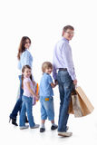 Familieneinkaufen stockfoto