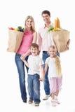 Familieneinkaufen lizenzfreie stockfotos