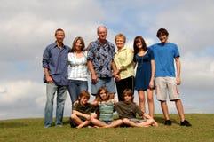 Familienerzeugungsportrait Lizenzfreie Stockfotos
