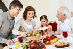 Familienfeier stockbild