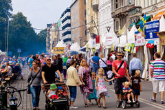 Familienfestival stockbild