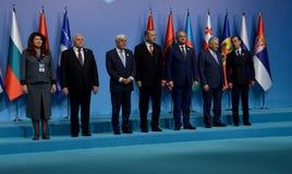Familienfoto der Teilnehmer am 25. Jahrestag Gipfel der wirtschaftlichen Zusammenarbeit BSEC Schwarzen Meers Lizenzfreie Stockbilder