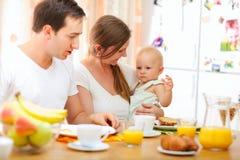 Familienfrühstück Stockfoto