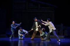 Familiengewalttätigkeit Jiangxi-Oper eine Laufgewichtswaage Stockbild