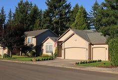 Familienhäuser Stockfoto