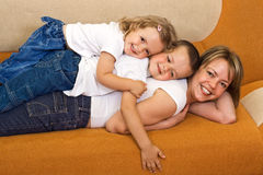 Familienhaufen Stockfoto