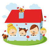 Familienhaus Lizenzfreie Stockfotografie