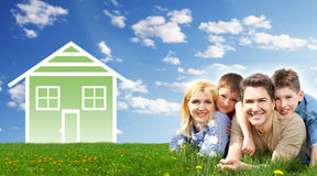 Familienhaus. lizenzfreies stockbild