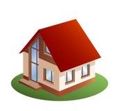 Familienhaus mit drei Abmessungen Stockfotos