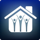 Familienheim Lizenzfreie Stockbilder